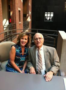 Visiting with my dear friend and Holocaust survivor Mr. Henry Greenbaum